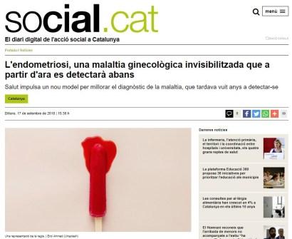 2018-09-17. Social.CAT. L endometriosi una malaltia ginecològica invisibilitzada que a partir d'ara es detectarà abans