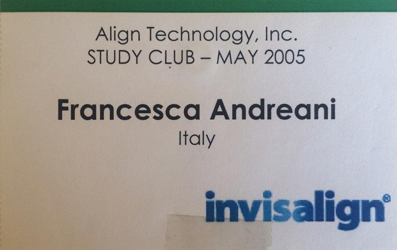 Align Technology Study Club - Dr Francesca Andreani