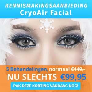 Banner CryoAir Facial gezichtsbehandeling Dr.Freeze Utrecht Aanbieding 5x