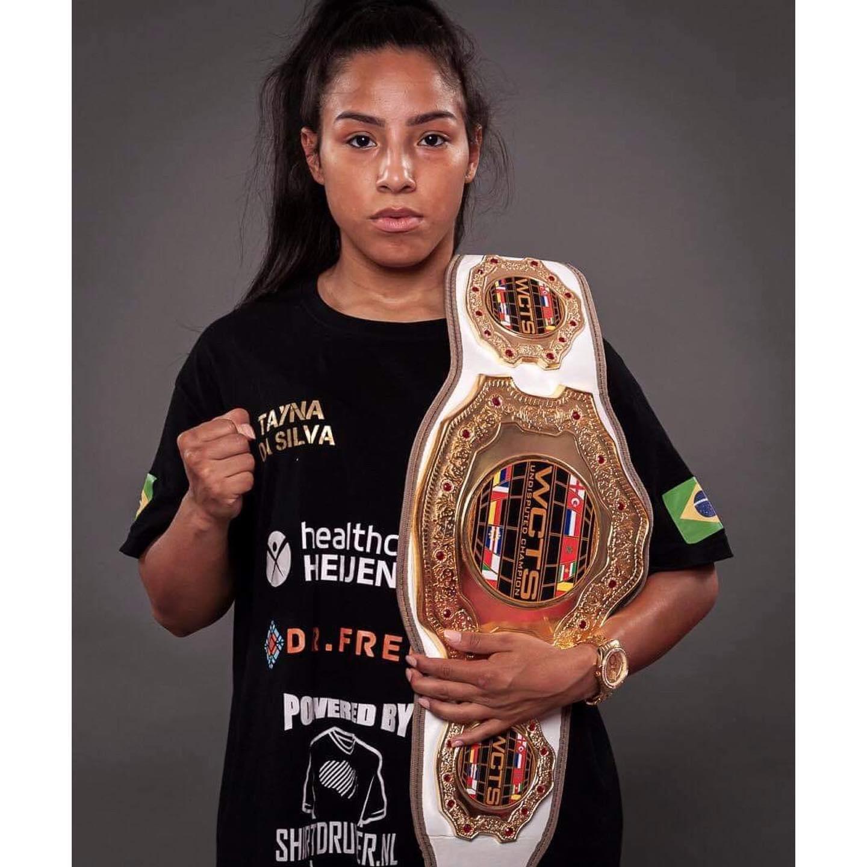 Europees kickboxkampioene Tayna da Silva