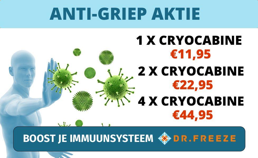 Anti-griep aanbieding Dr.Freeze Utrecht