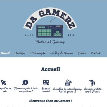 Site e-commerce de Da Gamerz