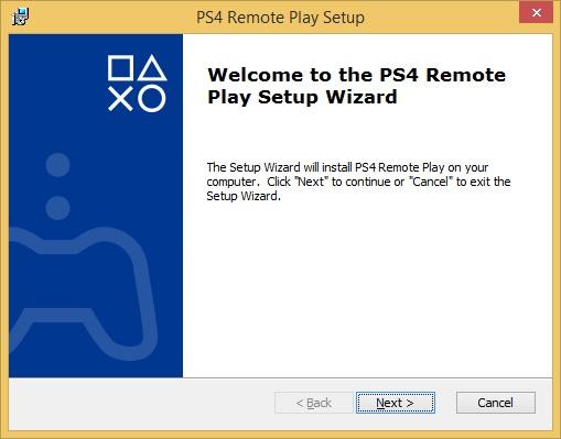 Ps4 remote setup