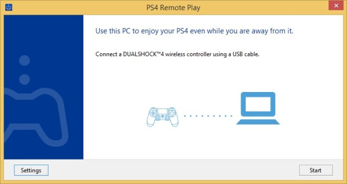 ps4 remote during installion on windows