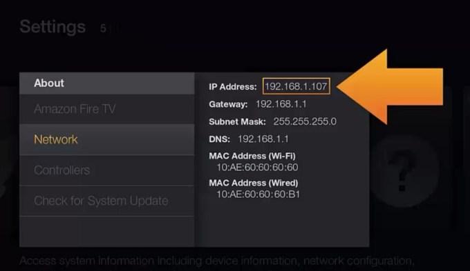 fire tv settings
