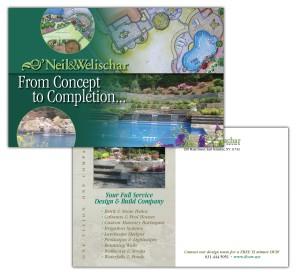 drgli designs oneil postcard design print work