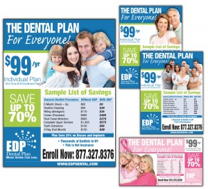 drgli edp dental newsday ads design print work