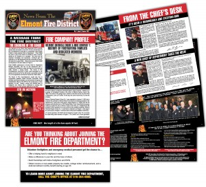 drgli elmont newsletter 3 design print work