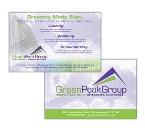 drgli green peak postcard design print work
