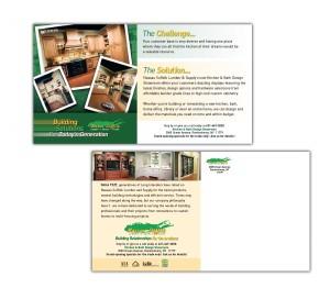 drgli nassau suffolk lumber kitchen postcard design print work