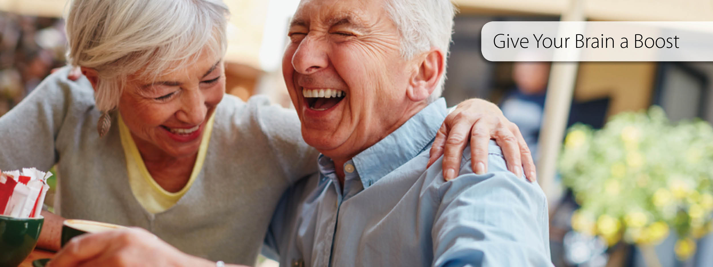 Older couple laughing together