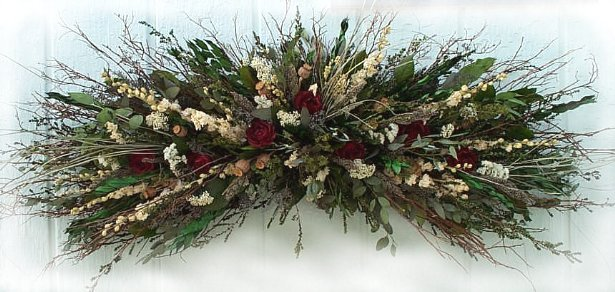 Dried flower arrangement  Mountain Meadow Rose Swag