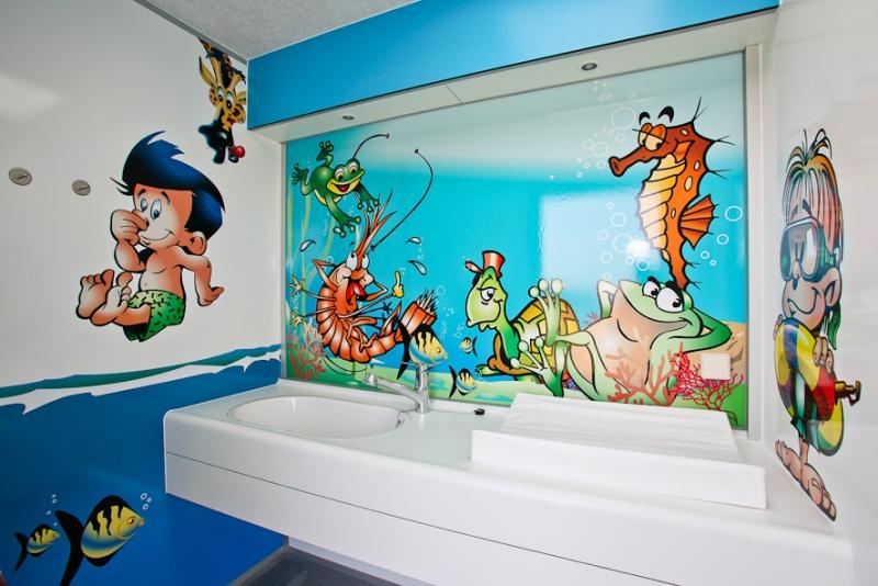 Kinderbadezimmer  De Driesprong verhuur  camping Domburg