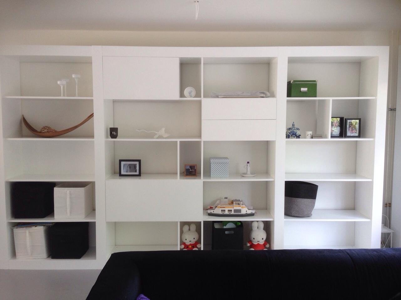 Demonteren monteren en uitbreiden open boekenkast