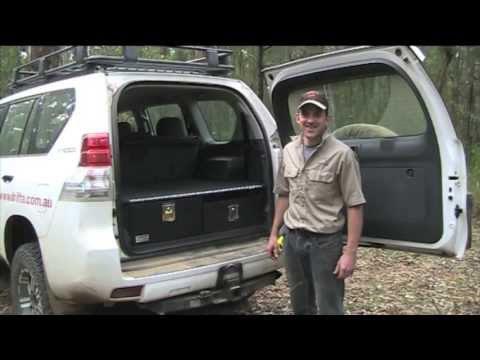 Prado 150 Storage Drawers Demo  Drifta Camping  4WD