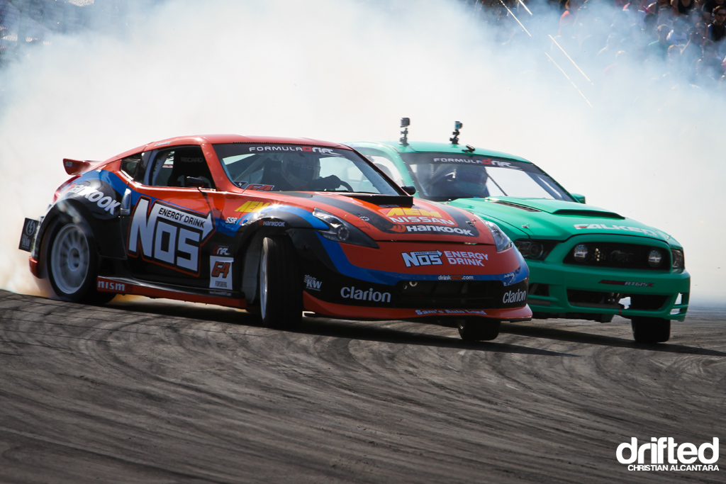 Motorcycle And Car Drift Wallpaper Chris Forsberg Nissan 370z Justin Pawlak Ford Mustang