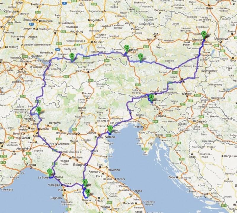 travel planning map of europe gosupsneek