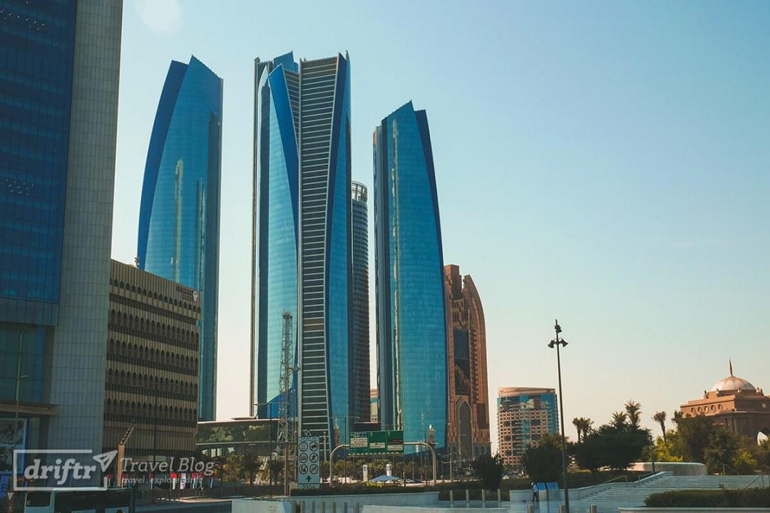 Beliebter Schauplatz: Etihad Towers in Abu Dhabi