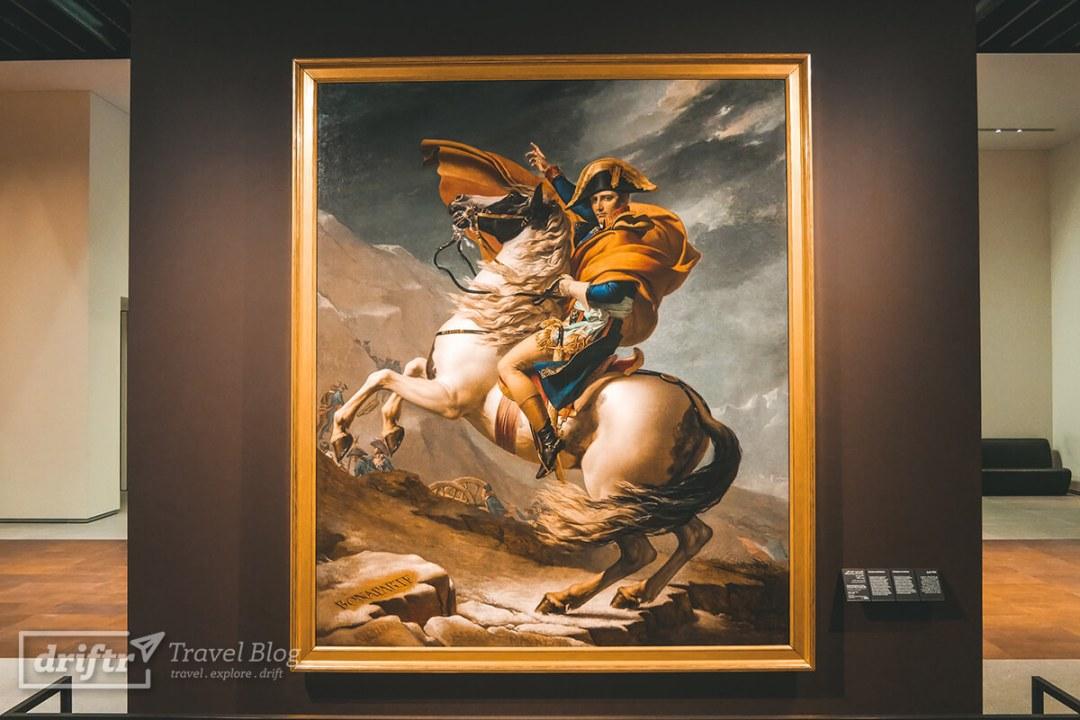 Gemälde von Napoleon im Louvre Abu Dhabi