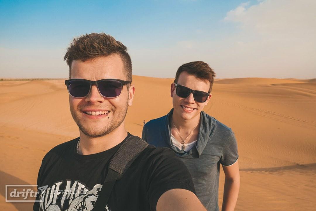 Torsten und Massimo in der Wüste