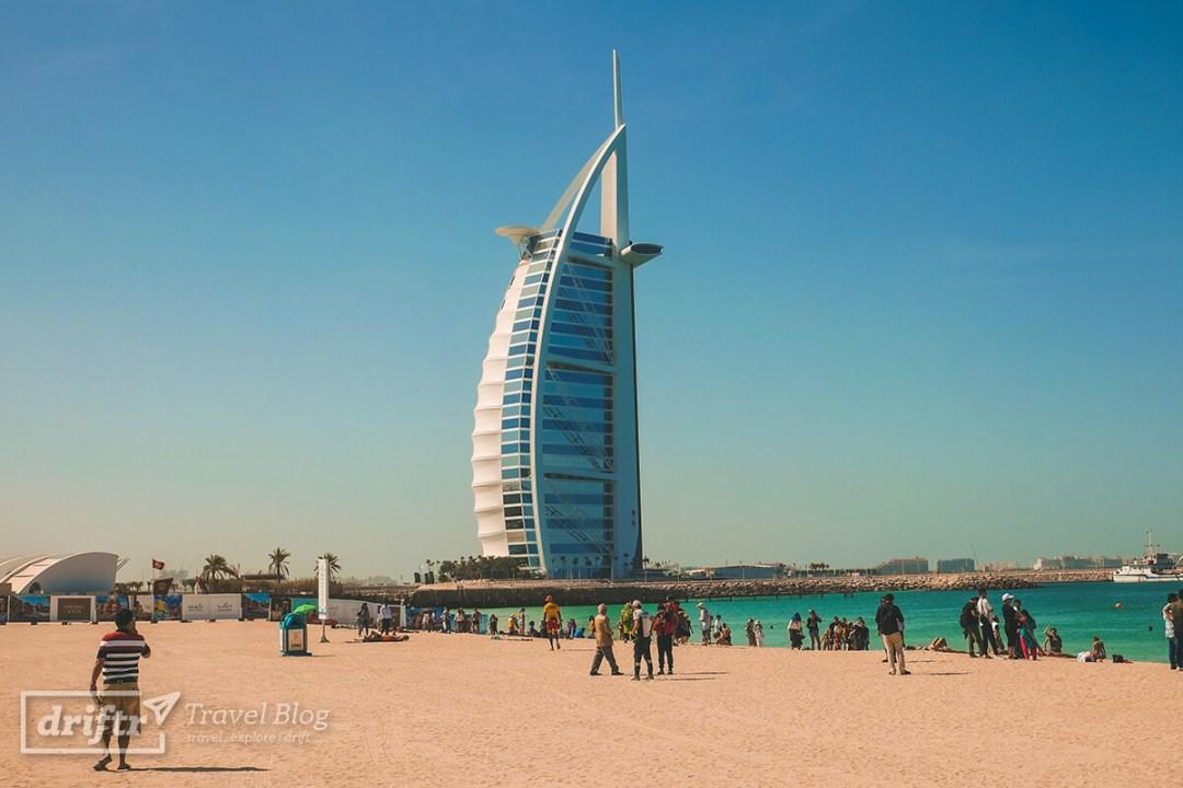 Burj al Arab und Jumeirah Beach