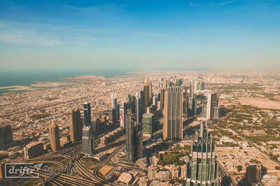 Aussicht über Dubai vom Burj Khalifa