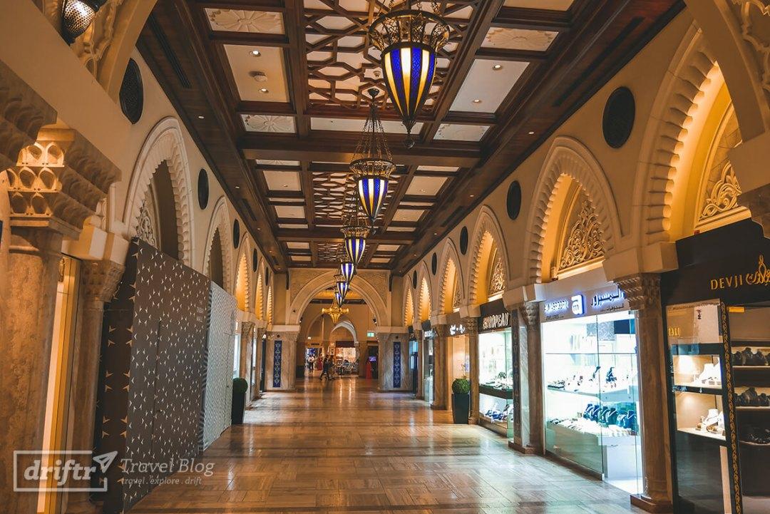 Königliche Gänge in der Dubai Mall
