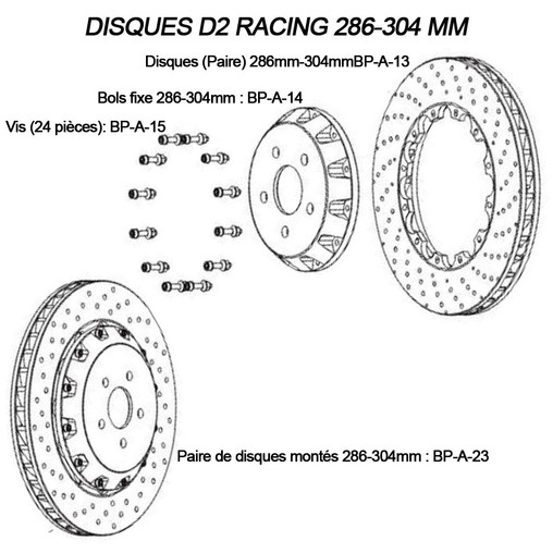 Replacement Front Discs for D2 Racing Brake Kits