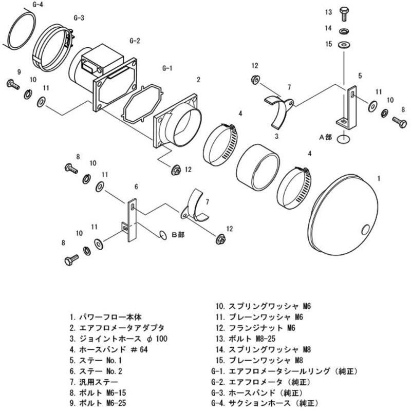 Admission Directe HKS Super Power Flow pour Mitsubishi