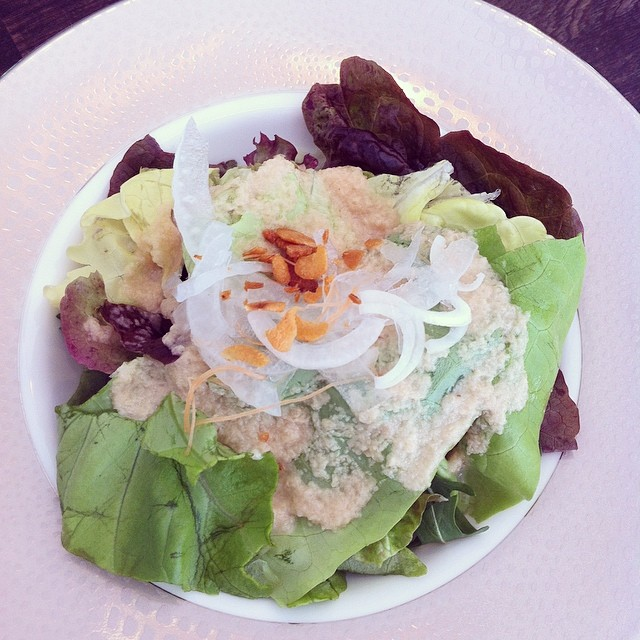 Green salad at Yashin Sushi, Kensington, London