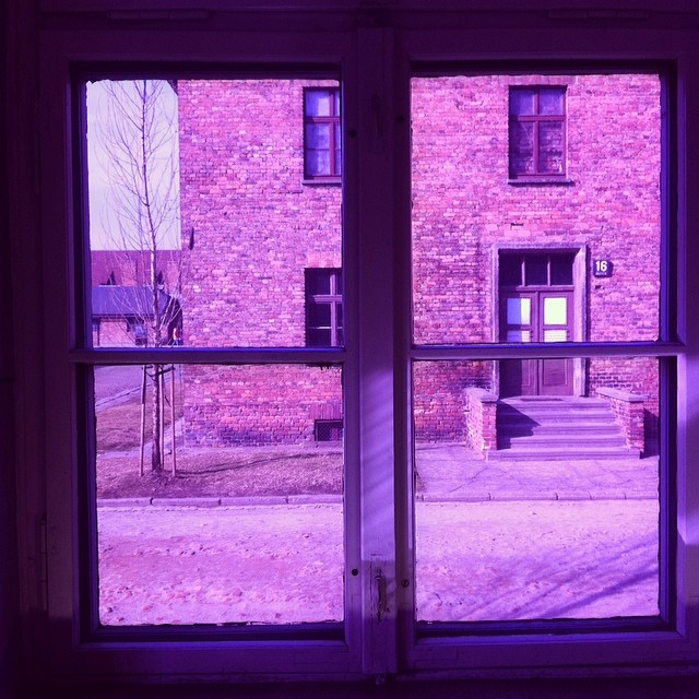 In a building in Auschwitz Concentration Camp, Poland