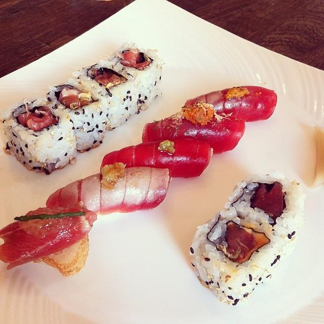 Tuna Sushi Lunch at Yashin Sushi, Kensington, London