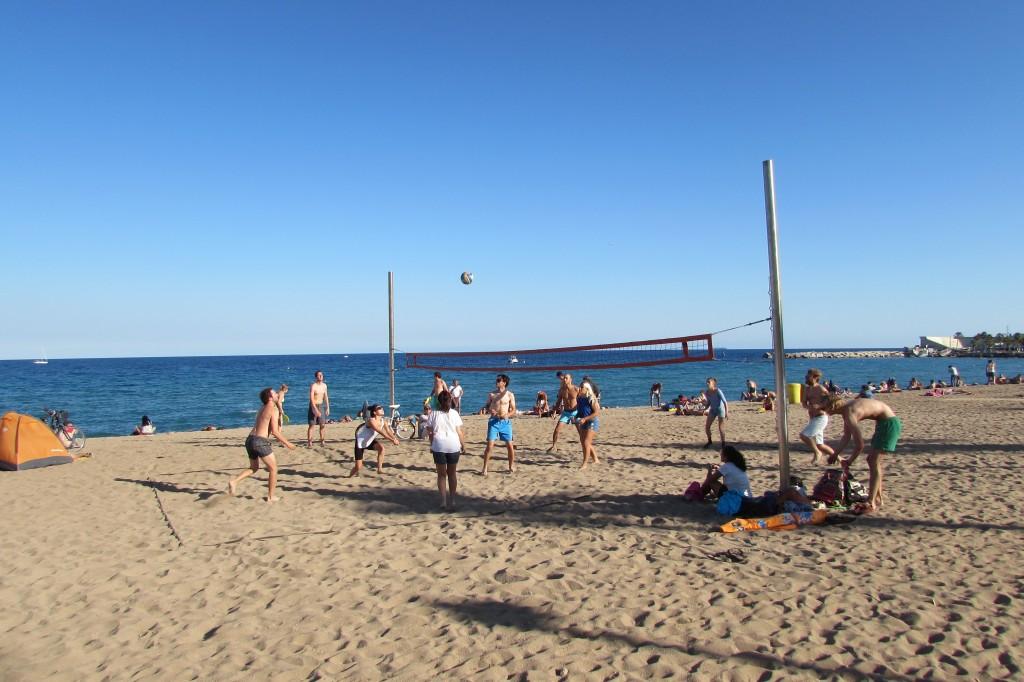 Volleyball on Barceloneta beach Barcelona