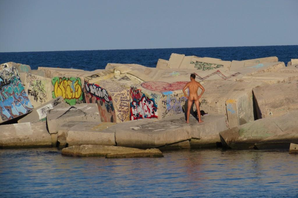 Nudist beaches Barcelona