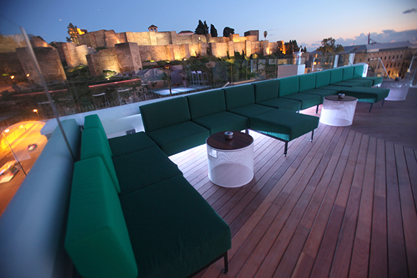 Rooftop of the Alcazaba Premium Hostel Malaga