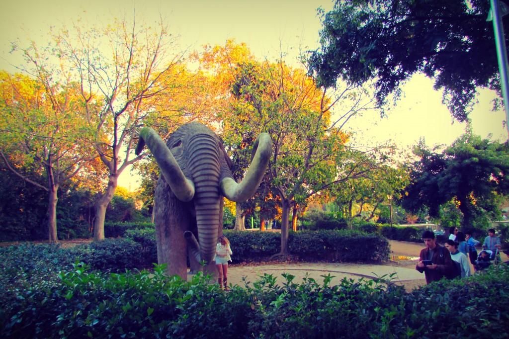 Mammoth at Parc de la Ciutadella in Barcelona