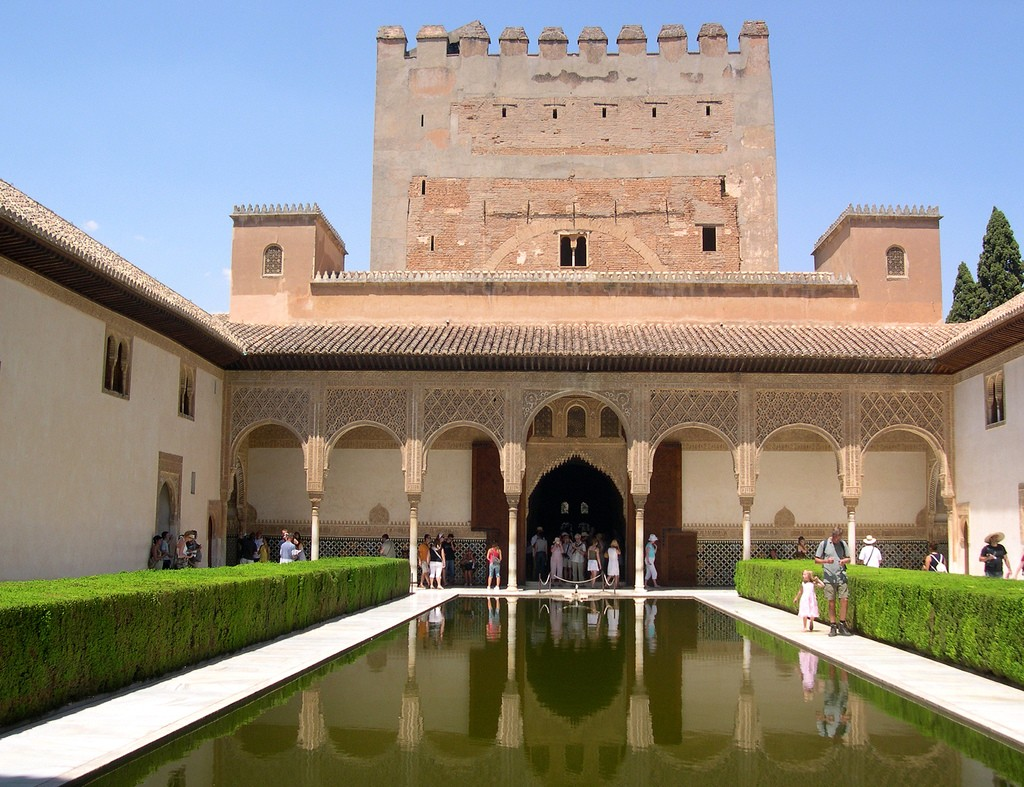 Alhambra Palace Andalucia Interior Water Feature