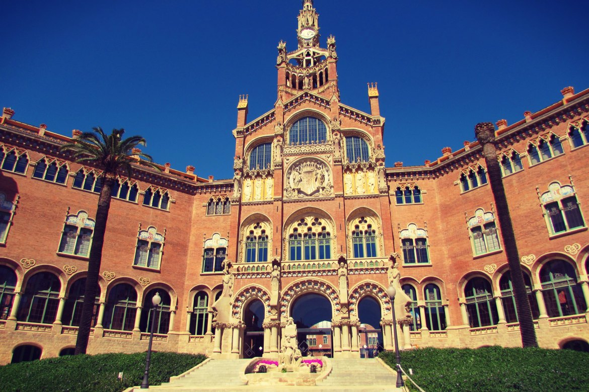Hospital San Pau, a quick stroll away from Sagrada Familia - just follow Avenida de Gaudí