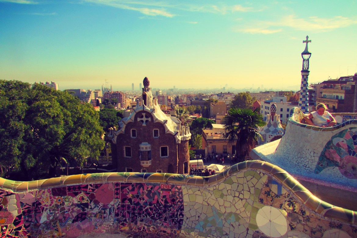 Park Guell View of Barcelona