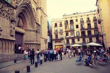 Santa Maria Cathedral in the Born Barrio Barcelona