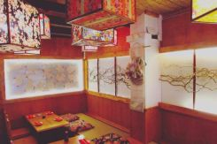 Interior of The Tatami Room Japanese Sushi Restaurant in Poblesec Barcelona - Sushi, Ramen and More