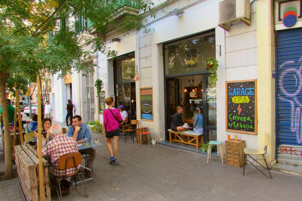 Cometa hipster Cafe in Sant Antoni Barcelona