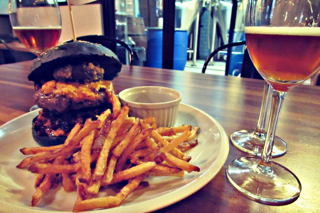 Beastly burger at BlackLab Brew house in Barcelona (bythebeach)