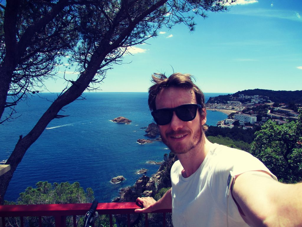 Ben Holbrook travel writer and blogger cycle touring the Costa Brava along the coast from Barcelona