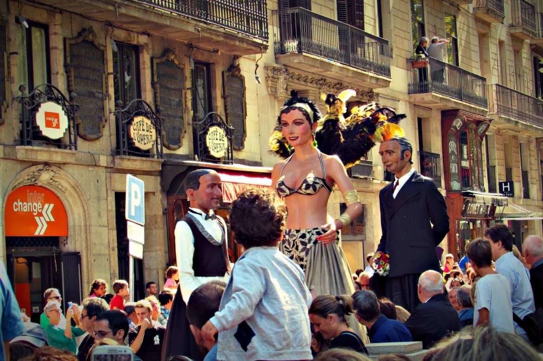 Giants Parade Barcelona La Merce Festival Every September