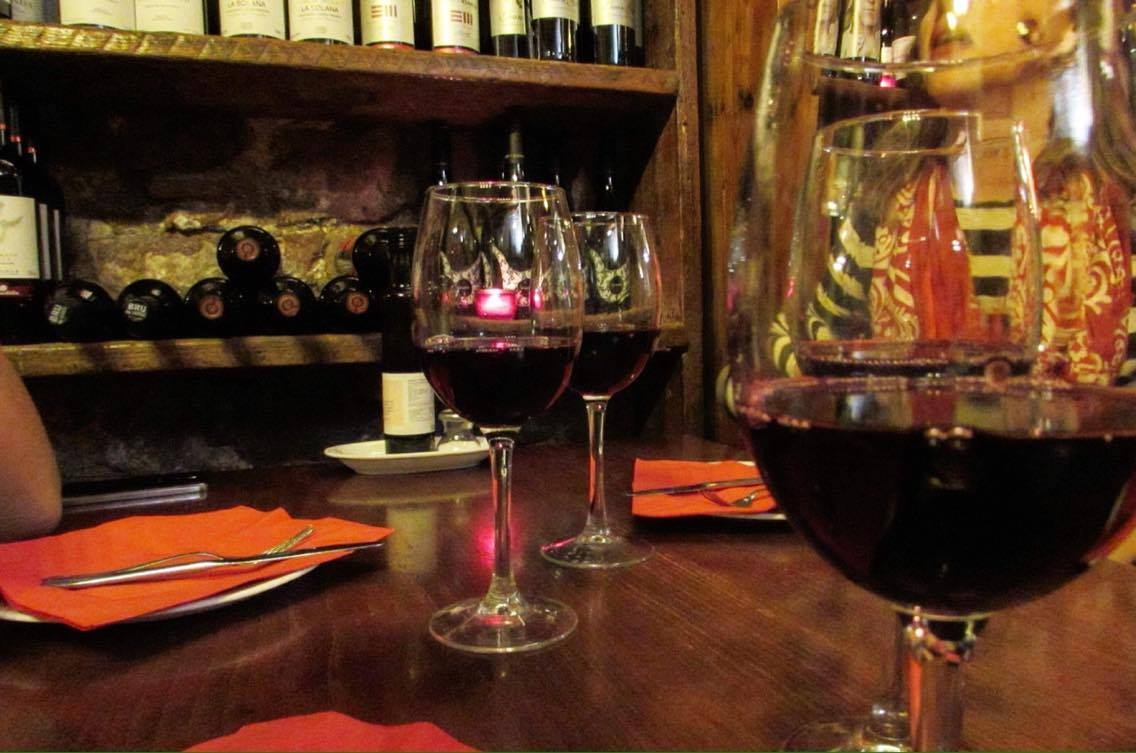 Drinking Rioja in Barcelona on the Wanderbeak food tourDrinking Rioja in Barcelona on the Wanderbeak food tour