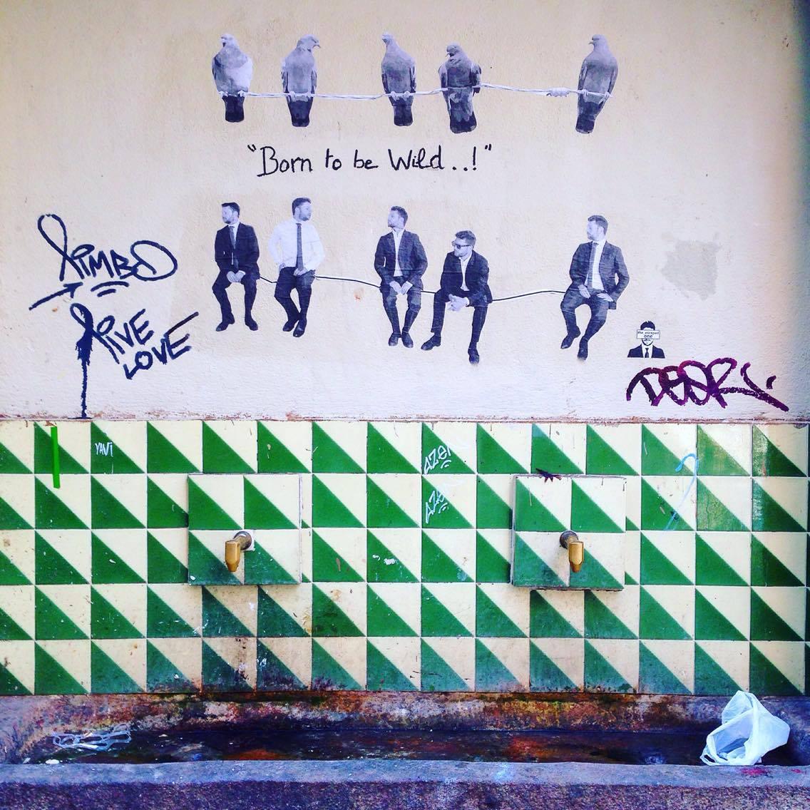 Street art in Raval, Barcelona