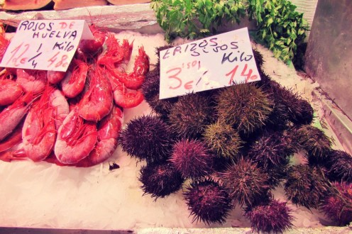 sea-urchins-and-prawns-at-mercat-cental-valencia