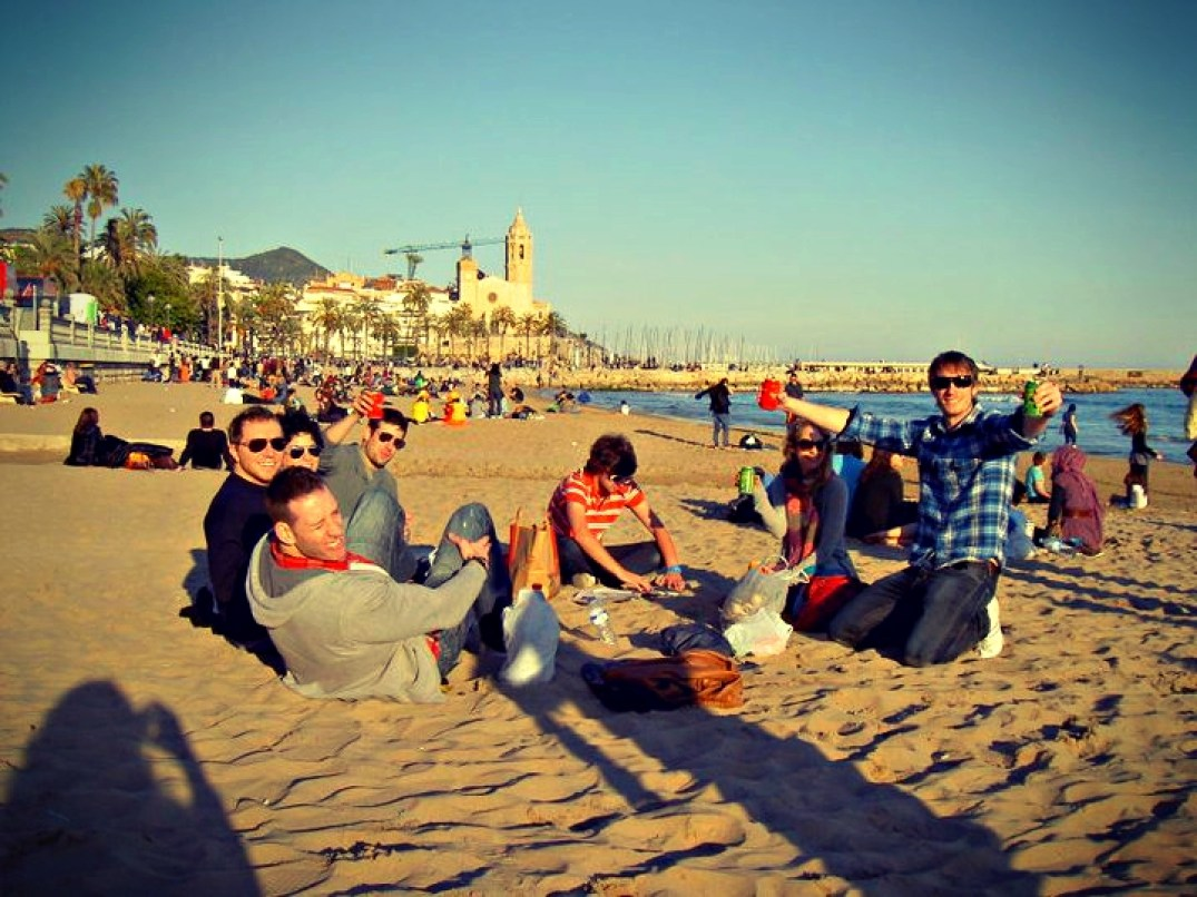 Sitges Beach, Barcelona - In the winter