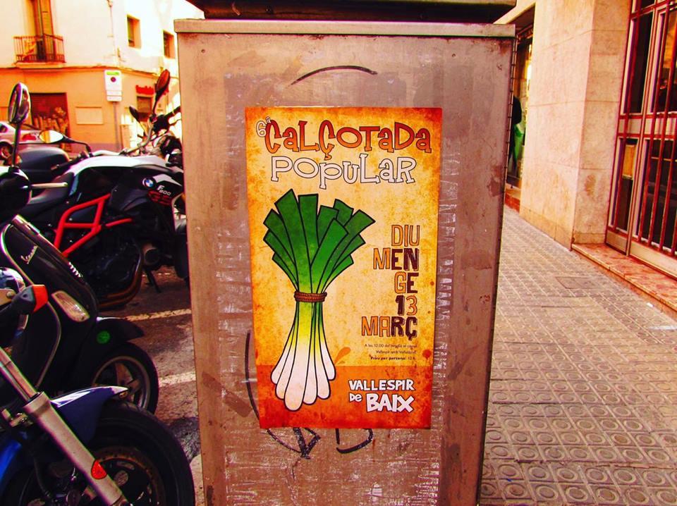 Calcotada Popular Carrer Vallespir Baix, Sants, Barcelona
